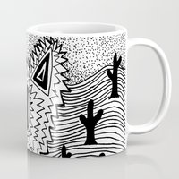 coyote Mugs featuring Coyote by Catolyn