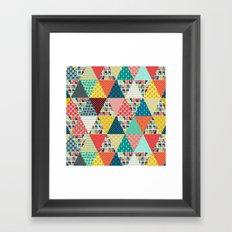 llama geo triangles Framed Art Print