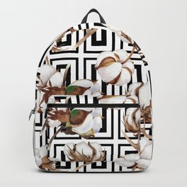 Cotton Flower Pattern 08 Backpack