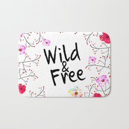 412 2 Wild and Free Floral Bath Mat
