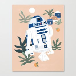 """Keep Calm and Droid On"" by Maggie Stephenson Canvas Print"