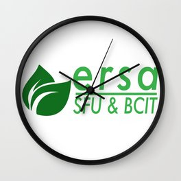 Ecological Restoration Student Association Logo with SFU and BCIT Wall Clock