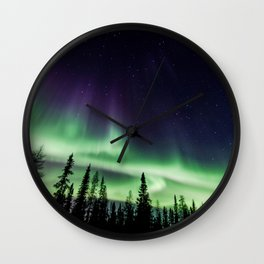 Aurora during geomagnetic storm in Yellowknife, Canada Wall Clock