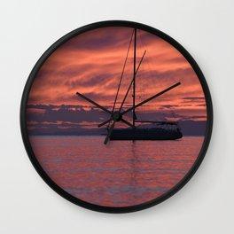 Cape Sounio 4 Wall Clock