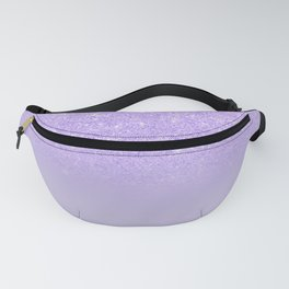 Modern purple sparkles ombre glitter lilac pastel color block Fanny Pack