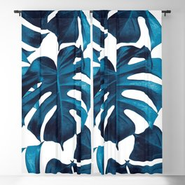 Tropical Monstera Leaves Dream #8 #tropical #decor #art #society6 Blackout Curtain
