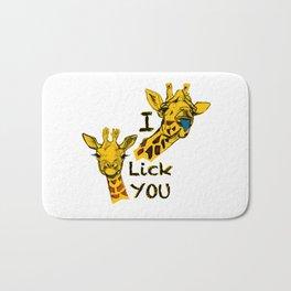 I like you girafe blue tong Bath Mat