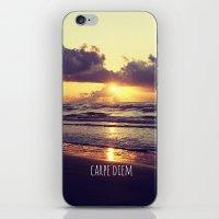 carpe diem iPhone & iPod Skins featuring Carpe Diem by Libertad Leal Photography
