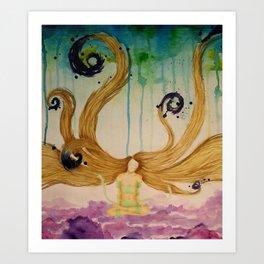 Cloud Budda Art Print