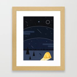 Underneath The Stars Framed Art Print