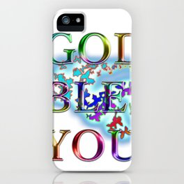 God bless you. It is a phrase found in the American national anthem. iPhone Case