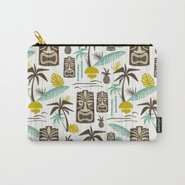 Island Tiki - White Carry-All Pouch