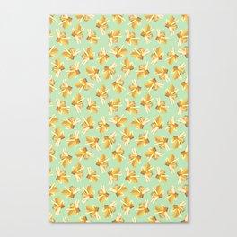 Yellow Gemstone Canvas Print