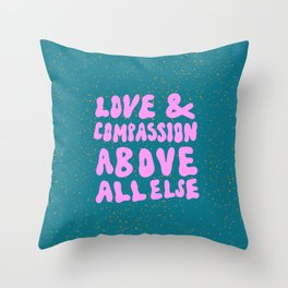 Love & Compassion Throw Pillow