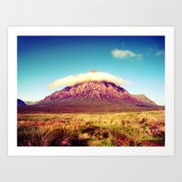 scotland Art Prints featuring Buachaille Etive Mòr, scotland. by zenitt