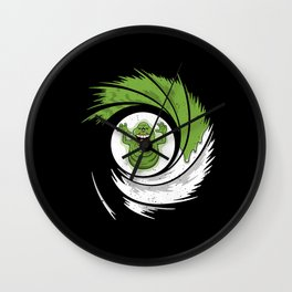The Spud Who Slimed Me Wall Clock