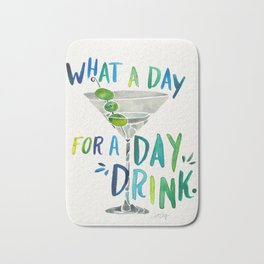 What a Day for a Day Drink – Blue & Green Palette Bath Mat
