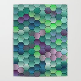 Honeycomb hexagonal Poster