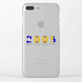 2005 - NAVY - My Year of Birth Clear iPhone Case