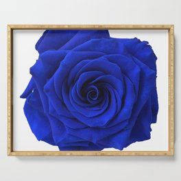 blue rose Serving Tray