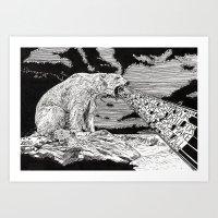 polar bear Art Prints featuring Polar Bear by Meredith Mackworth-Praed