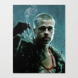 Tyler Durden Explains Project Mayhem - Fight Canvas Print