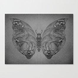 Butterfly skulls 4 Canvas Print