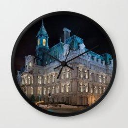 Montreal City Hall Wall Clock