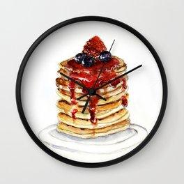 Berry Pancakes Wall Clock