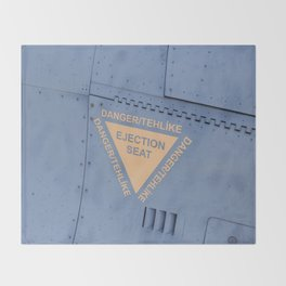 F16 Ejector Seats Warning Sign Throw Blanket