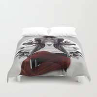 evolution Duvet Covers featuring Proud Evolution by Peg Essert