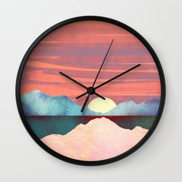 Pink Oasis Wall Clock