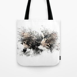 Abstract Wolf Tote Bag