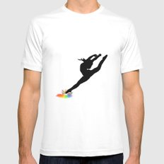 Dance Mens Fitted Tee White MEDIUM