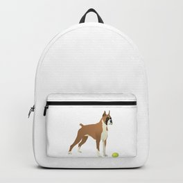 Friendly Boxer with Green Ball Backpack