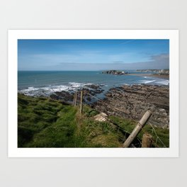 Burgh Island & Bantham Beach Art Print