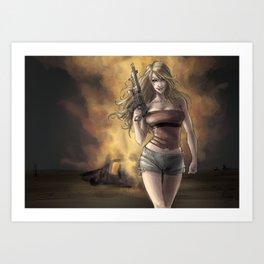 Boom_girl Art Print