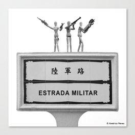 Military Street Canvas Print