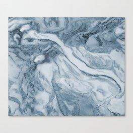 Cipollino Azzurro blue marble Canvas Print