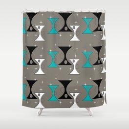 Mid-Century Hourglass Shower Curtain