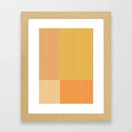 Color Block Line Abstract IV Framed Art Print