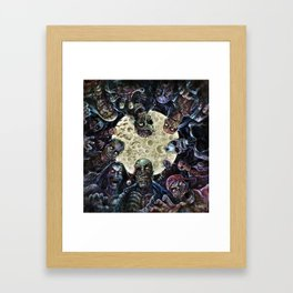 Zombies attack (zombie circle horde) Framed Art Print