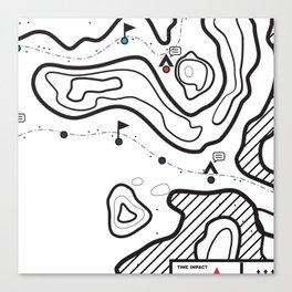 Map 1 Canvas Print