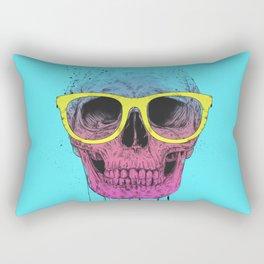 Pop art skull with glasses Rectangular Pillow