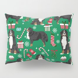 Bernese Mountain Dog christmas dog breed gifts mittens stockings presents candy canes Pillow Sham