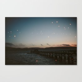Cool CA II // Twinkle Lights Bay Canvas Print