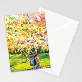 Tardis In The Season Blossom Stationery Cards