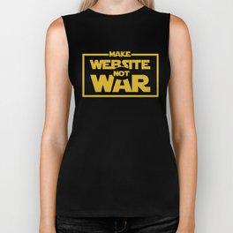 make website not war Biker Tank