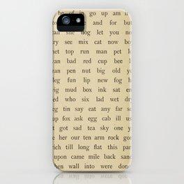 Vintage Words iPhone Case