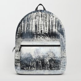 White Winter Abstract Backpack